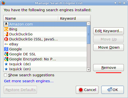 manage search plugins